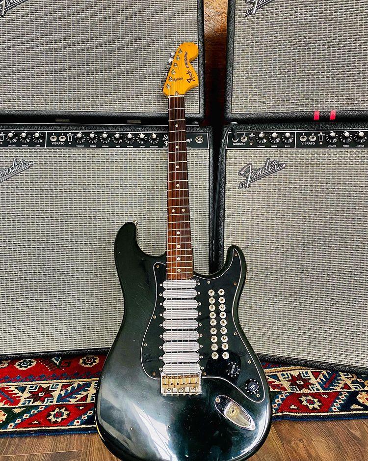 Johnny Marr using Fender Custom Spirit Strat