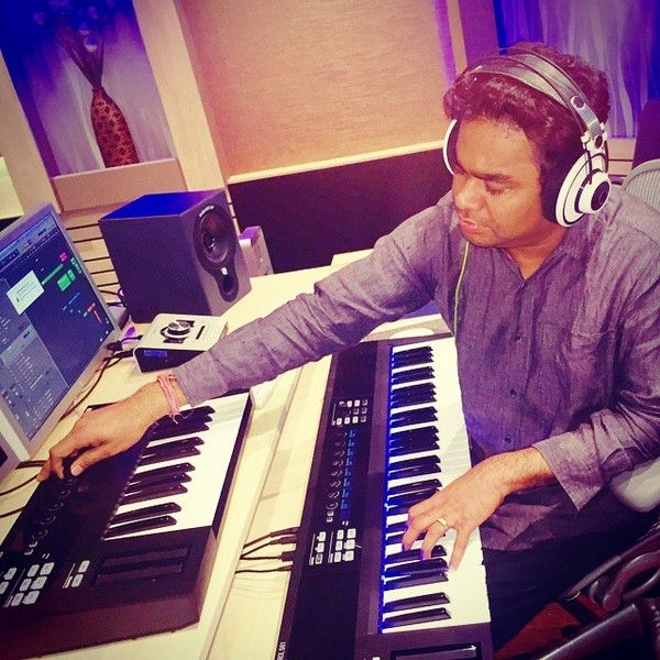 A.R. Rahman using Equator D5 Coaxial Studio Monitors