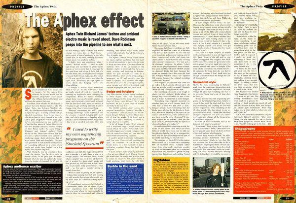 Aphex Twin using Sinclair ZX Spectrum