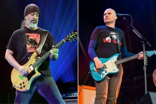 Billy Corgan using Fender Jaguar Electric Guitar Blue with Tortoise Shell Pickguard