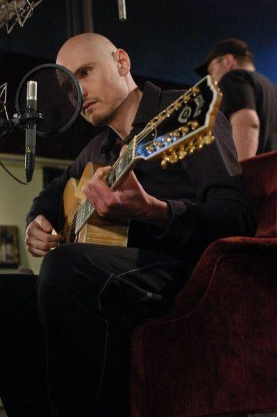 Billy Corgan using Guild JF65-12 12-String Acoustic Guitar