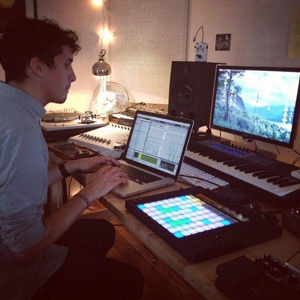 Bonobo using ADAM Audio A7X Powered Studio Monitor