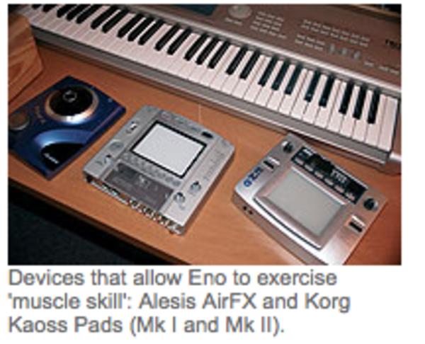 Brian Eno using Korg Kaoss Pad