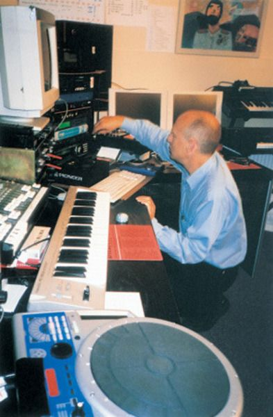 Brian Eno using Roland HPD-15 HandSonic Percussion Controller