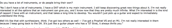 Brian Eno using Sequential Circuits Prophet VS
