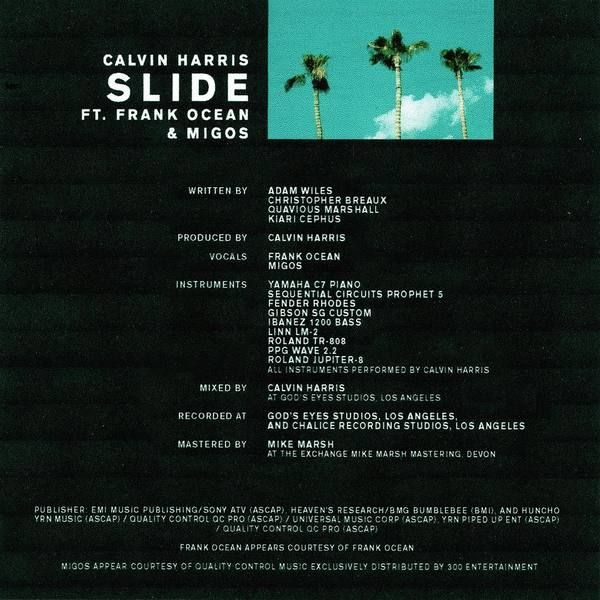 Calvin Harris using Yamaha C7