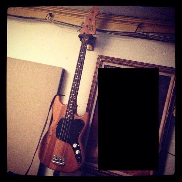 Dallon Weekes using Fender Musicmaster Bass