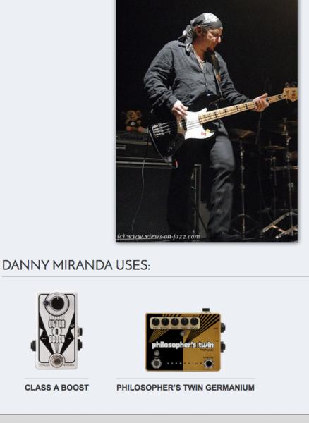Danny Miranda using Pigtronix Philosopher's Twin Germanium
