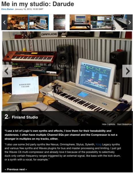 Darude using Lennar Digital Sylenth1 Software Synthesizer