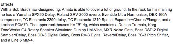 Dave Amato using TC Electronic 2290 Dynamic Digital Delay