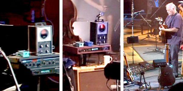 David Gilmour using Boss CE-2 Chorus Guitar Effect Pedal