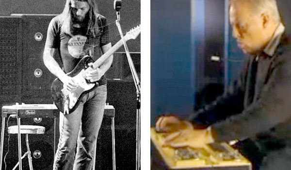 David Gilmour using Fender 1000 Pedal Steel