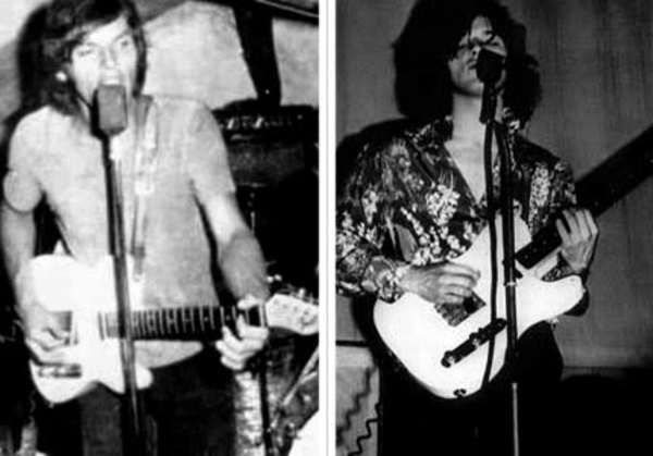 David Gilmour using Fender Telecaster
