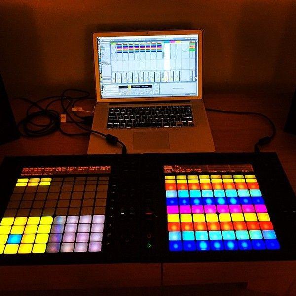 David Guetta using Ableton Push