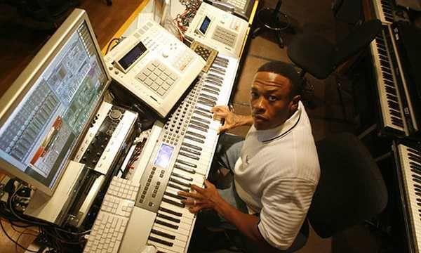 Dr. Dre using M-Audio Keystation Pro 88 Controller Keyboard