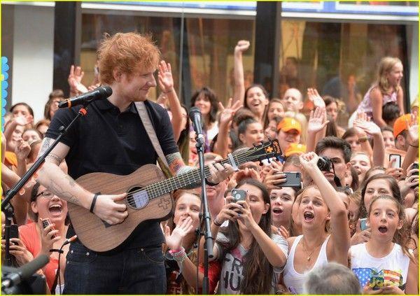Ed Sheeran using Martin LX1E Ed Sheeran Signature Acoustic-Electric Guitar