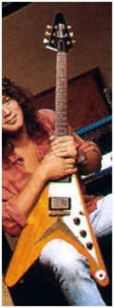 Eddie Van Halen using Gibson Flying V Electric Guitar