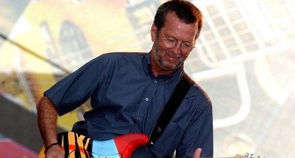 Eric Clapton using Ernie Ball Polypro Guitar Strap