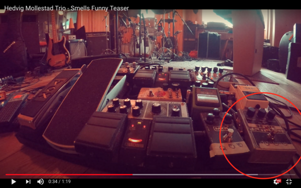 Hedvig Mollestad Thomassen using Electro-Harmonix Octave Multiplexer Pedal