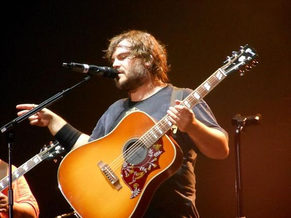 Jack Black using Gibson Hummingbird