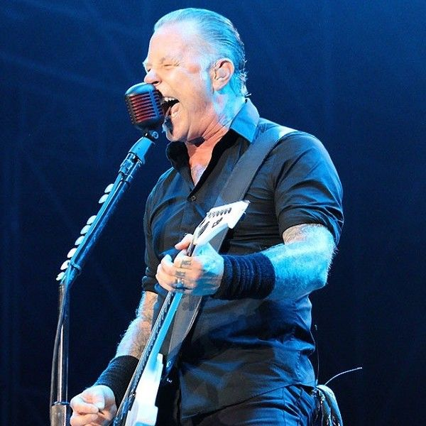James Hetfield using Shure Super 55 Dynamic Microphone