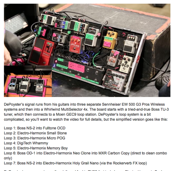 Jeremy DePoyster using Boss OD-1 Overdrive Guitar Effects Pedal