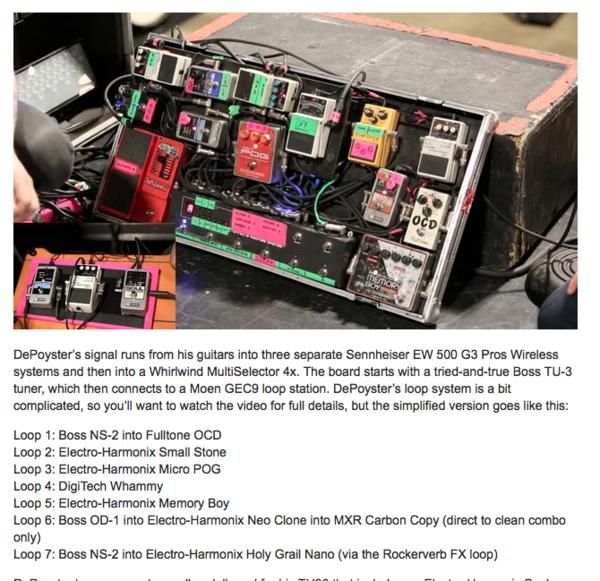 Jeremy DePoyster using Electro-Harmonix Memory Boy