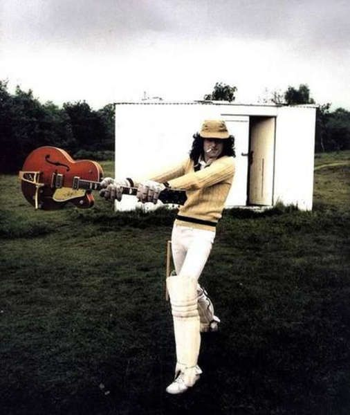 Jimmy Page using Gretsch G6120TM Chet Atkins Electric Guitar