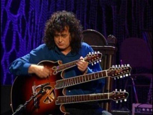 Jimmy Page using Manson Triple Neck