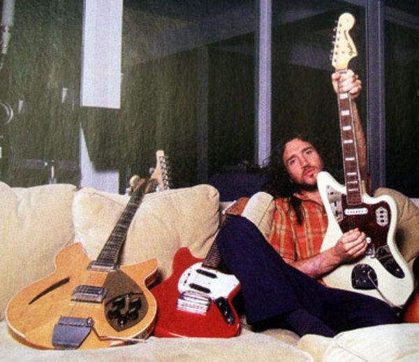 John Frusciante using Fender Jaguar Electric Guitar