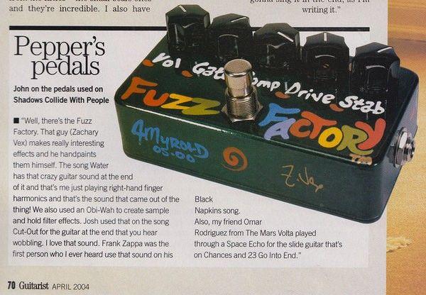 John Frusciante using Z.Vex Vexter Series Fuzz Factory