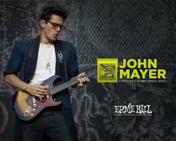 John Mayer using Ernie Ball 2221 Regular Slinky 10-46