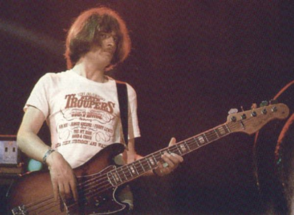John Paul Jones using Fender Bass V