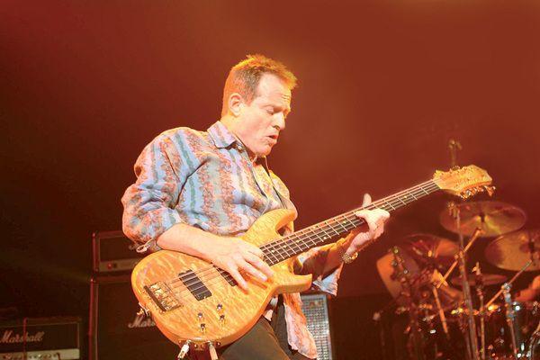 John Paul Jones using Manson John Paul Jones Custom 10-String Bass Guitar