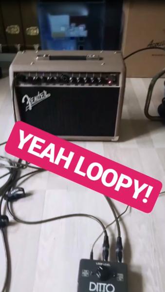 Julian Wolf using Fender Acoustasonic 40 Acoustic Guitar Amplifier