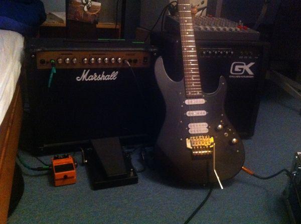 Julian Wolf using Invasion Black H-S-S Prototype Electric Guitar