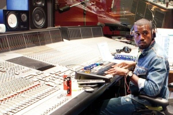 Kanye West using Yamaha NS-10M Studio Monitor