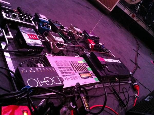 Kevin Parker using Boss Roland RE-20 Space Echo Pedal