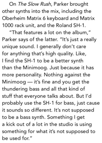 Kevin Parker using Oberheim Matrix 1000