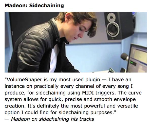 Madeon using Cableguys VolumeShaper 4