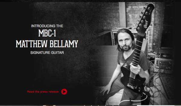 Matthew Bellamy using Cort MBC-1 Matthew Bellamy Signature Model