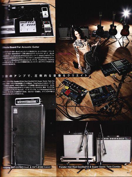 Miyavi using Fender Hot Rod DeVille 212 III 60W 2x12 Tube Guitar Combo Amp