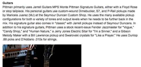 Monte Pittman using Fender Jazzmaster Electric Guitar