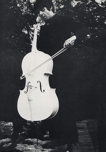 Paul McCartney using Blue Jay Way White Beatles Cello