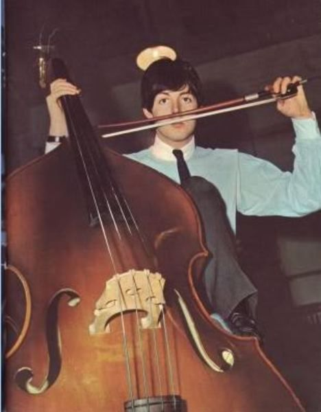 Paul McCartney using French Upright Bass Bow