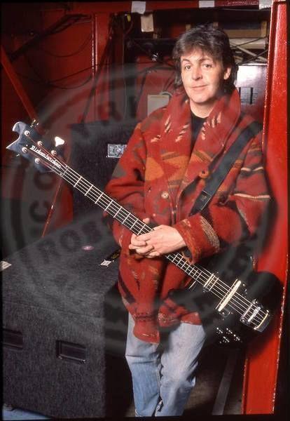 Paul McCartney using Paul McCartney's Custom Rickenbacker 5 String Bass
