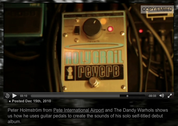 Peter Holmström using Electro-Harmonix Holy Grail Reverb Guitar Effects Pedal