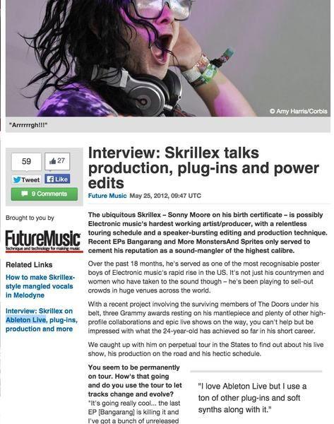 Skrillex using Ableton Live 9