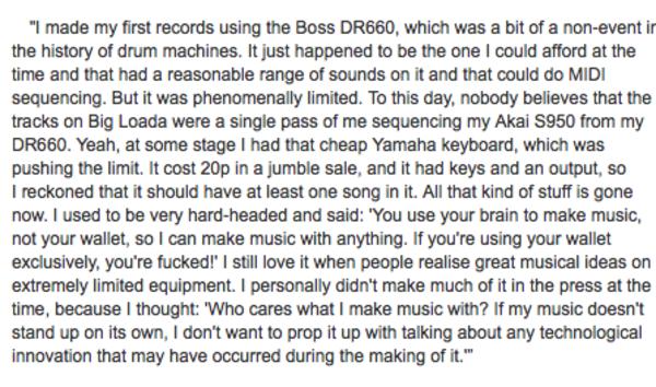 Squarepusher using Boss Dr. Rhythm DR-660