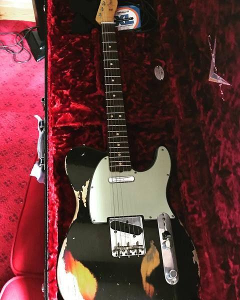 Steven Wilson using Fender Custom Shop 1963 Relic Telecaster
